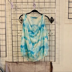 Alice&Olivia Silk-Blend Sleeveless water color Top